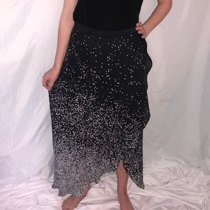 Haute Hippie Speckled Maxi Skirt with High Slit